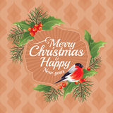 2018 Christmas and Happy New Year greeting card Stock Photo