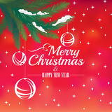2018 Christmas and Happy New Year greeting card Royalty Free Stock Photo