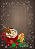 Christmas and Happy New Year greetings card. Stock Images