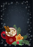 Christmas and Happy New Year greetings card. Royalty Free Stock Photo