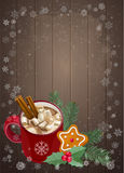 Christmas and Happy New Year greetings card. Stock Photo