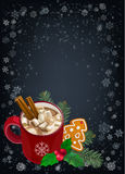 Christmas and Happy New Year greetings card. Stock Photos