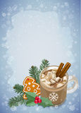 Christmas and Happy New Year greetings card. Stock Image