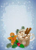 Christmas and Happy New Year greetings card. Stock Photography