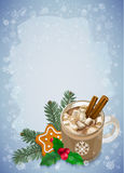 Christmas and Happy New Year greetings card. Royalty Free Stock Photography