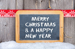 Christmas and a Happy New Year Greetings Royalty Free Stock Image