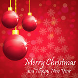 Christmas & Happy New Year Greetings - Vector Royalty Free Stock Photos