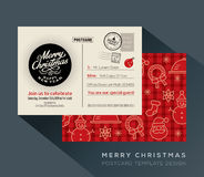 Christmas and Happy New year holiday postcard background for party invitation card Royalty Free Stock Photos