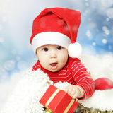 Christmas or Happy New Year infant Stock Photo