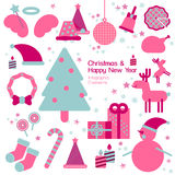 Christmas and happy new year infographic element. Stock Photography