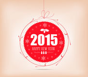 Christmas and happy new year label card Royalty Free Stock Image