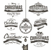 Christmas and happy new year lettering. Stock Images