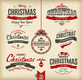 Christmas and happy new year letteting. Stock Image