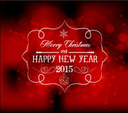 Christmas and happy new year light vector background Stock Photos