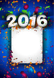 2016 Christmas and Happy New Year Party flyer Stock Images