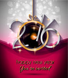 2016 Christmas and Happy New Year Party flyer Royalty Free Stock Photo