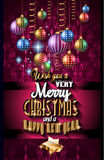 2016 Christmas and Happy New Year Party flyer Stock Photography
