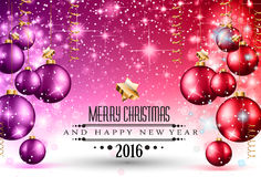2016 Christmas and Happy New Year Party flyer. Stock Photography