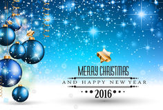 2016 Christmas and Happy New Year Party flyer. Royalty Free Stock Image