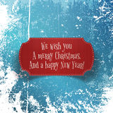 Christmas and happy New Year red paper Banner Stock Photos