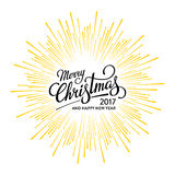 Christmas and Happy New Year 2017 White Royalty Free Stock Images