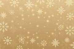 Christmas and Happy New Years background with golden snowflakes, illustration. Christmas and Happy New Years background with golden snowflakes, illustration royalty free illustration