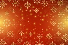 Christmas and Happy New Years background with golden snowflakes, illustration. Christmas and Happy New Years background with golden snowflakes, illustration stock illustration