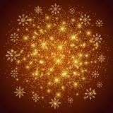 Christmas and Happy New Years background with snowflakes, illustration. Christmas and Happy New Years background with snowflakes, illustration Stock Images