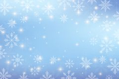 Christmas and Happy New Years background with snowflakes, illustration. Christmas and Happy New Years background with snowflakes, illustration Royalty Free Stock Photos