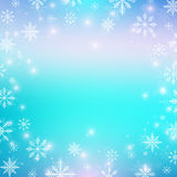 Christmas and Happy New Years background with snowflakes. Vector illustration. Stock Photo