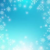 Christmas and Happy New Years background with snowflakes. Vector illustration. Stock Photos