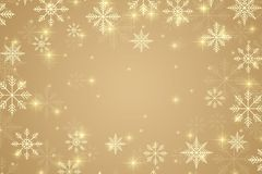 Christmas and Happy New Years illustration background with golden snowflakes. Christmas and Happy New Years illustration background with golden snowflakes Royalty Free Stock Photography