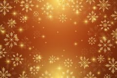 Christmas and Happy New Years illustration background with golden snowflakes. Christmas and Happy New Years illustration background with golden snowflakes royalty free illustration