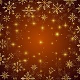 Christmas and Happy New Years illustration background with golden snowflakes. Christmas and Happy New Years illustration background with golden snowflakes Royalty Free Stock Photo