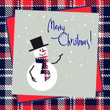 Christmas happy snowman Royalty Free Stock Photo