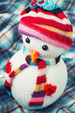 Christmas happy snowmans Royalty Free Stock Photos