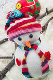 Christmas happy snowmans Stock Image