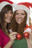 Christmas, Happy Teenagers With Christmas Tree Bal Stock Images
