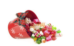 Christmas Hard Candy in Bucket Royalty Free Stock Images