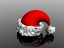 Christmas hat. Santa's Christmas hat,3d render,nice reflection Royalty Free Stock Image
