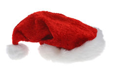 Christmas hat. A red christmas hat on a white background Royalty Free Stock Image