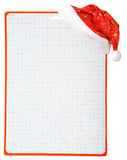 Christmas hat and blank royalty free stock photography