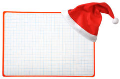 Christmas hat and blank horizontal Royalty Free Stock Photo