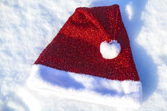 Christmas hat with bubo Stock Photo
