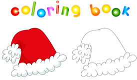 Christmas hat. Coloring book for kids Royalty Free Stock Photography
