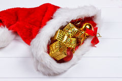 Christmas hat with decorations Stock Photography