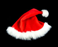 Christmas hat isolate black red Royalty Free Stock Image
