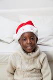 christmas hat man portrait Στοκ φωτογραφία με δικαίωμα ελεύθερης χρήσης