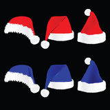 Christmas hat red and blue vector Stock Photography