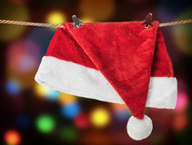Christmas Hat Santa claus hanging Royalty Free Stock Photos